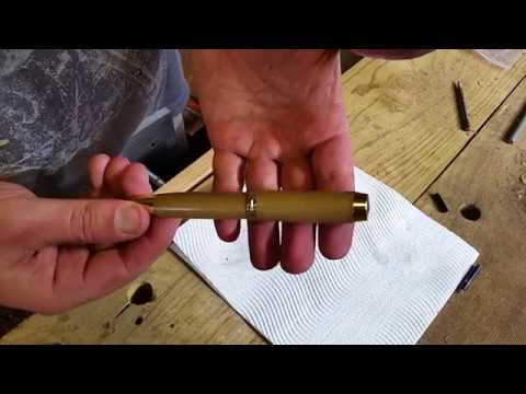 Woodturning a Huon Pine Rollerball Pen