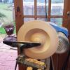Woodturning a Pants Changing Macrocarpa Bowl/Platter